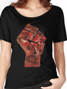 Black Power Fist Women's Relaxed Fit T-Shirt