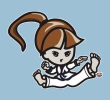 Martial Arts/Karate Girl - Jumping Split Kick Baby Tee