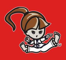 Martial Arts/Karate Girl - Jumping Split Kick Kids Tee