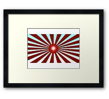 Rising Sun Flag iPhone / Samsung Galaxy Case Framed Print