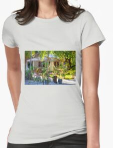 Vacation resort in the Maldives, Eden on Earth Womens Fitted T-Shirt