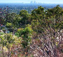 Perth city from Kelmscott hills by BigAndRed
