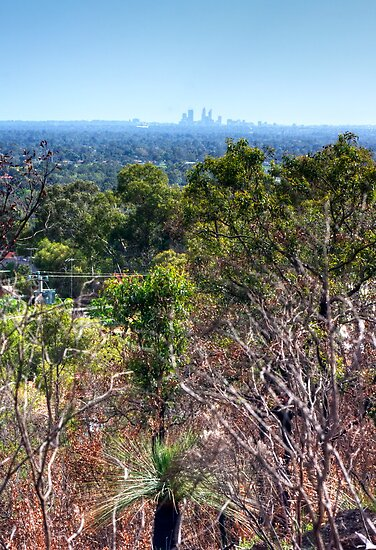 Perth city from Kelmscott hills by BigAndRed