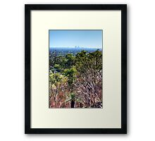 Perth city from Kelmscott hills Framed Print