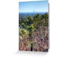 Perth city from Kelmscott hills Greeting Card