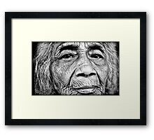 Wrinkles of Life Framed Print