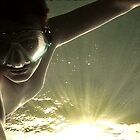 Swimming in the sunlight.....self portrait by Sarah-jane Monro