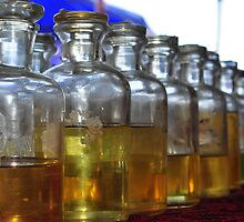 Perfumes in old glass bottles. by amroo