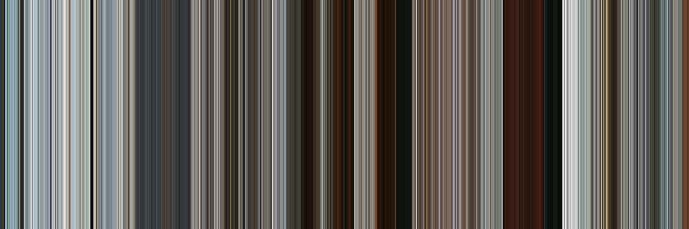 Moviebarcode: Rango (2011) [Simplified Colors] by moviebarcode