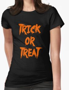 Trick or Treat - Orange Womens Fitted T-Shirt