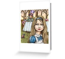 Alice and the mad tea party Greeting Card