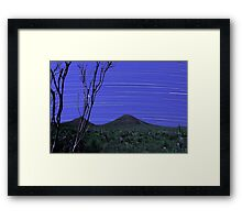 Star Trails - Stirling Ranges Western Australia Framed Print