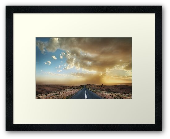 Dust Storm Mundi Mundi Plains by Annette Blattman