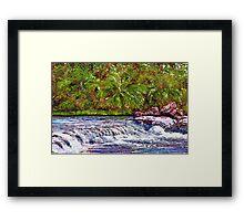Fern Waterfall Framed Print