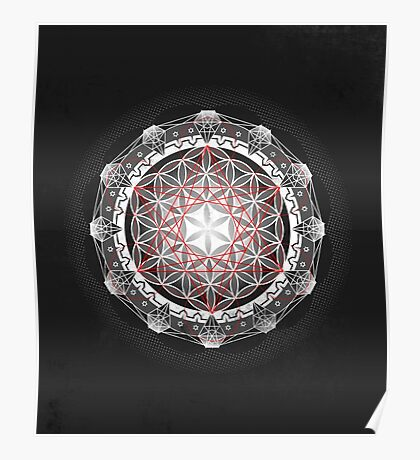 Flower of Life & Metatrons Cube Poster