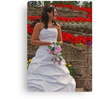 The Bride in Flowers Canvas Print