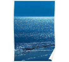 Jekyll Island Ocean Blue Poster