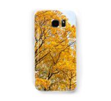 Yellow leaves autumn trees Samsung Galaxy Case/Skin