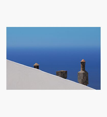 greek chimneys Photographic Print