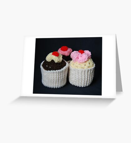 knitted cupcakes, yummy!! Greeting Card