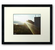 Light That Gives Life ! Framed Print