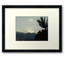 SunDown 4 Framed Print