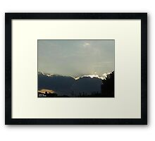 SunDown 7 Framed Print