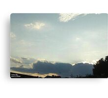SunDown 8 Canvas Print