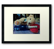 i was never drunk...only now! Framed Print
