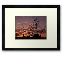 """""""Sunset Silhouette"""" Framed Print"""