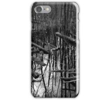 Wetland Reflections 47 BW iPhone Case/Skin