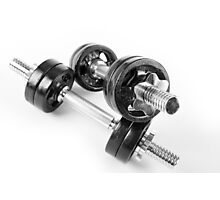 Chrome bolt on hand barbells weights Photographic Print