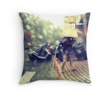 Afternoon Shower Throw Pillow