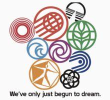 Epcot Center Classic Pavilion Logos  Kids Tee