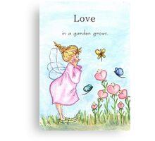 Love in a Garden Grows Canvas Print