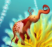 elephantus Tarax. seminis flos 2 by Martina Stroebel