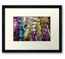 Crazy Colored Swirls Framed Print
