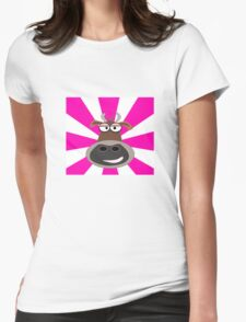 Funky Cow Womens Fitted T-Shirt