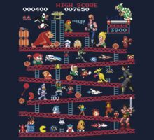 1980s Arcade Heroes One Piece - Long Sleeve