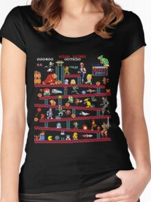1980s Arcade Heroes Women's Fitted Scoop T-Shirt