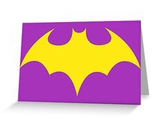 Batgirl Symbol Purple Greeting Card