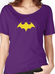 Batgirl Symbol Purple Women's Relaxed Fit T-Shirt