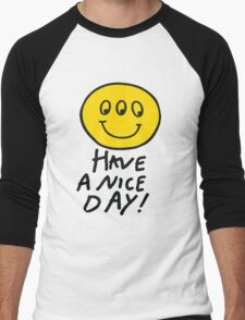 Third Eyed Smiley Shirt Men's Baseball ¾ T-Shirt