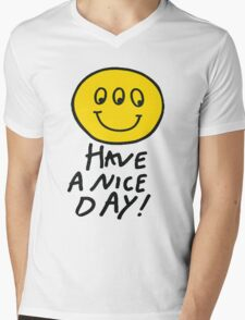 Third Eyed Smiley Shirt Mens V-Neck T-Shirt