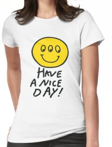 Third Eyed Smiley  Womens Fitted T-Shirt