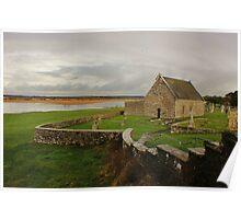 Cottage Beyond Clonmacnoise, Ireland Poster