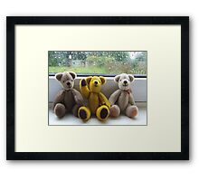 He's Waving to You. Framed Print