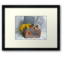 Up and Into the Box. Framed Print