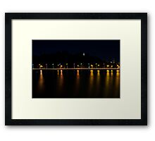 Flags Along The Swan Framed Print