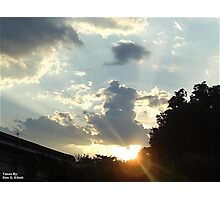 One Last Light  Photographic Print